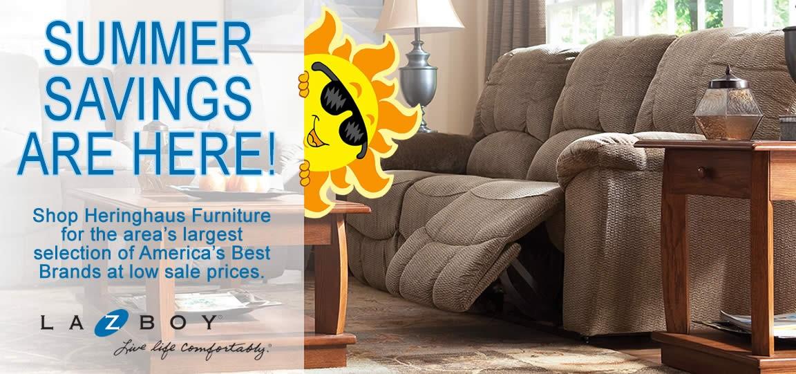 Shop Heringhaus Furniture in Ottawa for Summer Savings on La-Z-Boy Furniture.